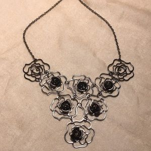 Metal Rose Necklace